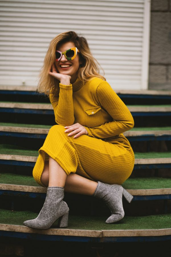 women-s-yellow-long-sleeved-dress-1055691